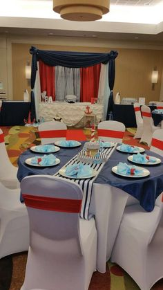 nautical baby shower | CatchMyParty.com