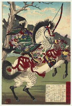 The Beautiful and Terrifying Female Samurai: Tomoe Gozen Female Samurai, Samurai Art, Samurai Warrior, Woman Warrior, Japanese History, Japanese Culture, Carl Spitzweg, Japanese Woodcut, Japanese Warrior
