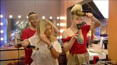I've never seen this photo before. It's a bit lol. Edward's facemask FTW!  John & Edward and Tara Reid, Celebrity Big Brother 2011. #Jedward