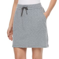 Women's Columbia Whitewater Bay Knit Skirt, Size: Medium, Light Grey