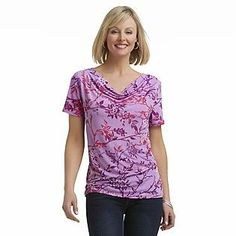 908c6abe6e705 Jaclyn Smith- -Women s Cowl Neck Stretch Top Neck Stretches