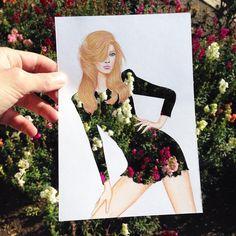 Imagini pentru Creative Fashion Designs by Armenian Artist Edgar Art And Illustration, Fashion Design Drawings, Fashion Sketches, Paper Fashion, Fashion Art, Fashion Sketchbook, Wow Art, Flower Fashion, Oeuvre D'art