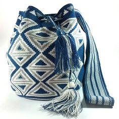 PC502 Espectacular #mochila #wayuu #blue #jean #eliwayuubags #arte #tradición & #color Info 3006388348