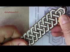 Celtic Knotted Bracelet Making - 1 / The Celtic Knot Bracelet Tutorial . Seed Bead Patterns, Beading Patterns Free, Beaded Jewelry Patterns, Beading Ideas, Celtic Bracelet, Bracelet Knots, Bracelet Making, Knotted Bracelet, Armband Tutorial