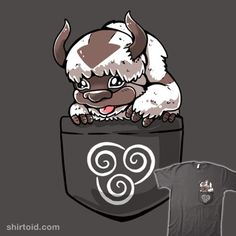 Best Flying Bison | Shirtoid #anime #appa #avatarthelastairbender #flyingbison #pocket #sarkasmtek #tvshow