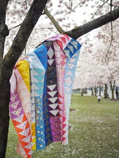 My Scrappy Flying Geese Quilt - the long story – Then Came June