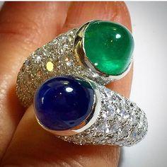 Adore this David Webb Toi e Moi ring @jewelry_goals #DavidWebb via…