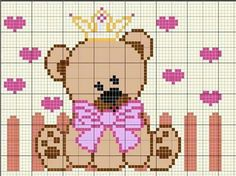 Pin on Diagramme Cross Stitch For Kids, Cross Stitch Baby, Cross Stitch Kits, Cross Stitch Patterns, Beaded Cross Stitch, Cross Stitch Embroidery, Embroidery Patterns, Wiggly Crochet, Baby Canvas