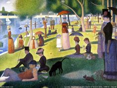 Georges Seurat Sunday Afternoon on the Island of la Grande Jatte painting is shipped worldwide,including stretched canvas and framed art.This Georges Seurat Sunday Afternoon on the Island of la Grande Jatte painting is available at custom size. Georges Seurat, Most Famous Paintings, Famous Artists, Classic Paintings, Famous Artwork, Popular Paintings, Amazing Artwork, French Paintings, Beautiful Paintings