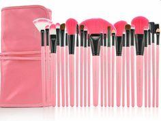 Cute makeup brush cosmetic set - pink