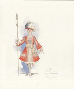 Boston Ballet's production of 'The Nutcracker' / Page Sketch by Robert Perdziola…