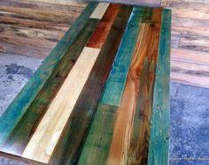 Recuperado el recuperado madera mesa de comedor por HappyHomeAustin