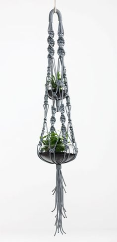 Two tier macrame plant hanging by Sarah Parkes