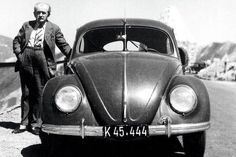 Ferdinand Porsche and his most famous design the Volkswagen Beetle. Porsche Classic, Classic Cars, Volkswagen 181, Ferdinand Porsche, Kdf Wagen, Bug Car, Vw Vintage, Carros Premium, Best Muscle Cars