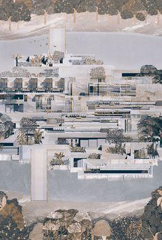 Joanne Chen | Y5 Architecture Concept Diagram, Architecture Collage, Architecture Graphics, Architecture Visualization, Chinese Architecture, Architecture Drawings, Architecture Portfolio, Residential Architecture, Landscape Architecture