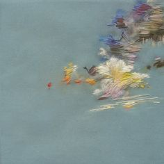 stephanie k. clark : paintings.  Partly Cloudy Series. Experimenting with soft pastels and embroidery