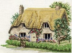 Betty's Cottage Cross Stitch Kit from Derwentwater Designs