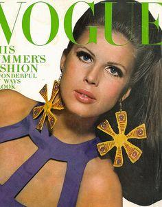 Vogue-May 1966 Vogue Fashion Magazine,May 1966. Cover Model:Birgitta af Klercker(1943-2007) photographed by Bert Stern