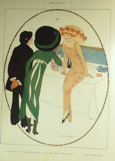 Umberto Brunelleschi (1879 – 1949). Le Rire, 22 Janvier 1910. [Pinned 1-xi-2019] Soloing, Italian Artist, French Fashion