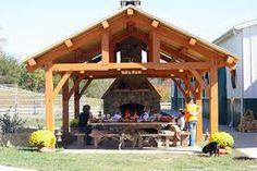 Oven in oak pavillion