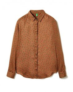 Compra Camisa estampada Marrón de Camisas Y Blusas en la tienda online oficial de United Colors of Benetton.