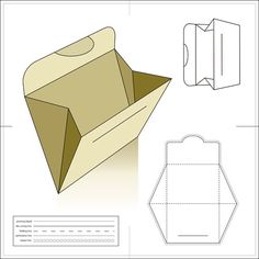 Different patterns for various envelopes, cd  covers, etc. You need to scroll down pretty far. This one is incorrect however. The triangles on the sides should be flipped where the point meets in the middle.