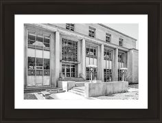 College Of Wooster Framed Print featuring the photograph College Of Wooster Andrews Library by University Icons
