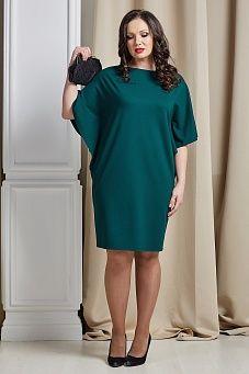 Зеленое платье зауженное к низу
