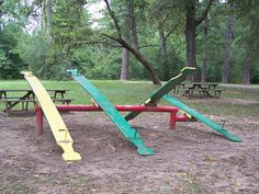 Remember teeter-totters?  You don't see these much anymore- damn lawyers!