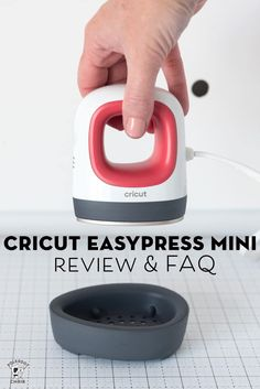 Cricut EasyPress Mini Review & FAQ Answers How To Use Cricut, Letter Find, Mini Iron, Polka Dot Chair, Foundation Paper Piecing, Iron On Vinyl, Cricut Tutorials, Sewing Table, Learn To Sew