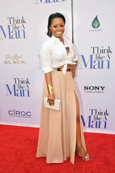 Keisha Knight Pulliam attends the Think Like A Man premiere at the Regal Atlantic Station in Atlanta, Georgia.
