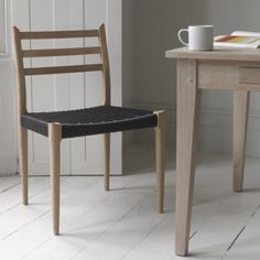 HANS CHAIRS   Loafhome ~ Place your orders, ladies and gentlemen. We have had these Scandinavian chairs in our office ever since we started. So many people tried to buy them that we brought out this lovely oak version with charcoal strings.