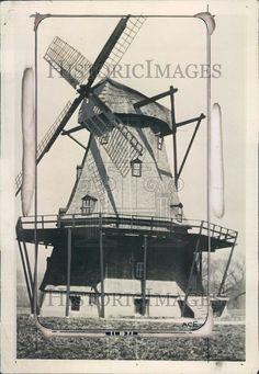 1925 Geneva IL Genuine Holland Windmill on a Farm Press Photo ner17433 | eBay