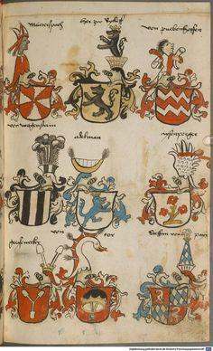 Wappen besonders von deutschen Geschlechtern Süddeutschland ?, 1475 - 1560 Cod.icon. 309  Folio 53r