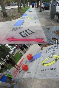 Funny pictures about Awesome Real Life Monopoly. Oh, and cool pics about Awesome Real Life Monopoly. Also, Awesome Real Life Monopoly photos. Stuff To Do, Things To Do, Monopoly Game, Monopoly Board, Monopoly Party, Monopoly Funny, Do It Yourself Inspiration, Marriage Proposals, Wedding Proposals