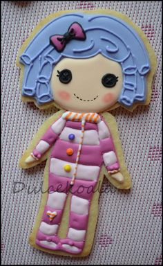 Galletas decoradas Lalaloopsy. Lalaloopsy cookies