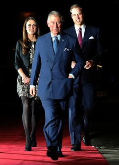 The Prince of Wales and The Duke And Duchess of Cambridge