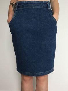 Byblos gonna jeans mini gonna vintage a tubo tubino blu usato donna tg 40/42