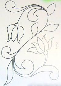 ARTEMELZA - Arte e Artesanato: Riscos para pintura bauernmalerei Hand Embroidery Design Patterns, Applique Patterns, Beading Patterns, Quilting Stencils, Free Stencils, Quilting Designs, Embroidery Needles, Ribbon Embroidery, Embroidery Kits
