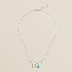 One of my favorite discoveries at WorldMarket.com: Sterling Silver Turquoise Lotus Necklace