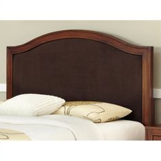 Duet Camelback Headboard with Brown Microfiber Inset