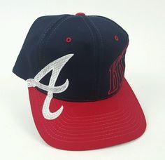cc5d888f0bb STARTER Atlanta Braves Baseball Hat Cap Snapback Red Navy Blue One Size   AtlantaBraves