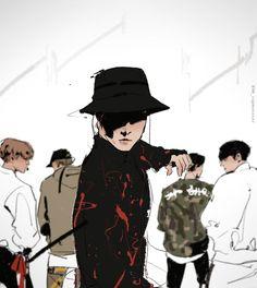 Hobi /// BTS/// fanart/// Mic drop /// credit to artist (♡●♡) xx