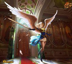 Fantasy Art Angels Warrior Sword | Warrior Angel - Moonga by Edli on deviantART