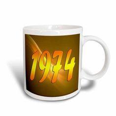 3dRose Year 1974, Ceramic Mug, 11-ounce