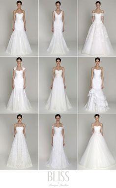 Bliss by Monique Lhullier 2013 Collection #wedding #bridalgown #weddingdress #moniquelhuillier #bliss