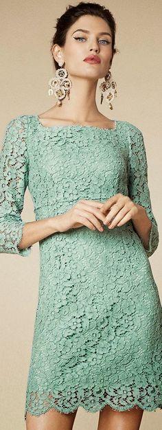 Latest fashion trends: Women's fashion | Mint lace dress