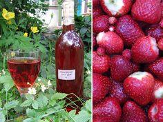 Strawberry wine - Making Your Own Country Wines Homemade Wine Recipes, Homemade Liquor, Homemade Alcohol, Mojito, Strawberry Wine, Strawberry Patch, Make Your Own Wine, How To Make Wine, Alcohol Recipes