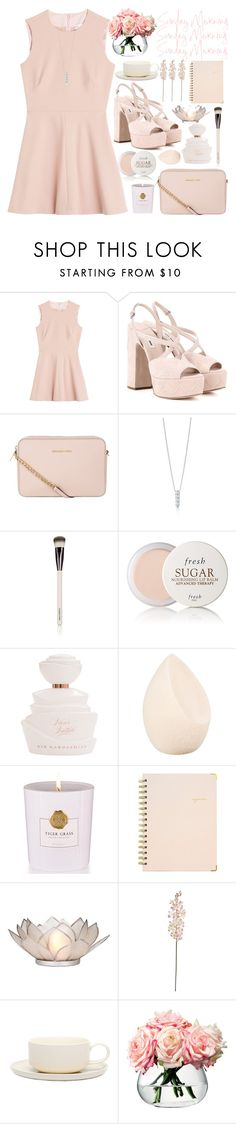 """""""Без названия #106"""" by lena-volodivchyk ❤ liked on Polyvore featuring RED Valentino, Miu Miu, MICHAEL Michael Kors, Chantecaille, Fresh, Christian Dior, Rituals, Sugar Paper, Cultural Intrigue and Laura Cole"""