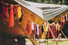 Tipi fringe decor Wedding Bunting, Tent Wedding, Boho Wedding, Wedding Events, Wedding Decorations, Diy Teepee, Streamers, Event Decor, Wedding Details